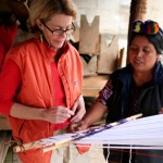 Chajul, author learning to weave