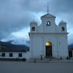 Nebaj Catholic church night